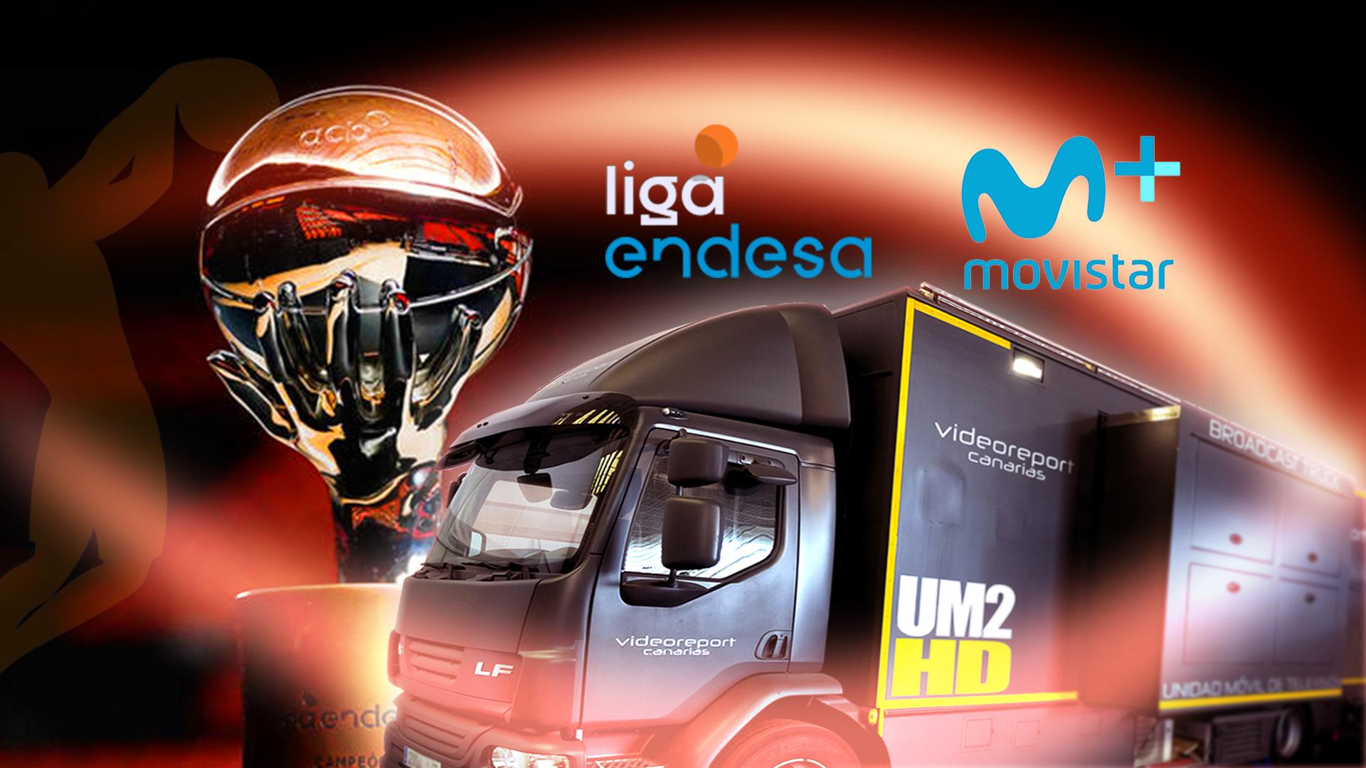 Movistar+ y Videoreport Canarias con la ACB